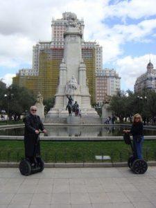 visite de madrid en segway placa espana