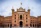 façade de l'entrée des arènes de Madrid
