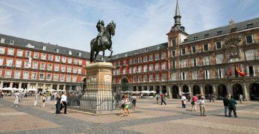 La Plaza Mayor à Madrid