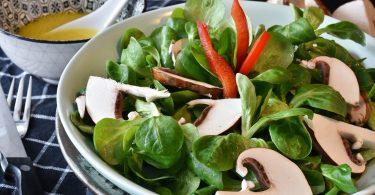 salade verte champignon