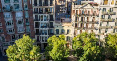 terrasse sur toit de Madrid