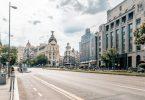 rue deserte centre ville madrid