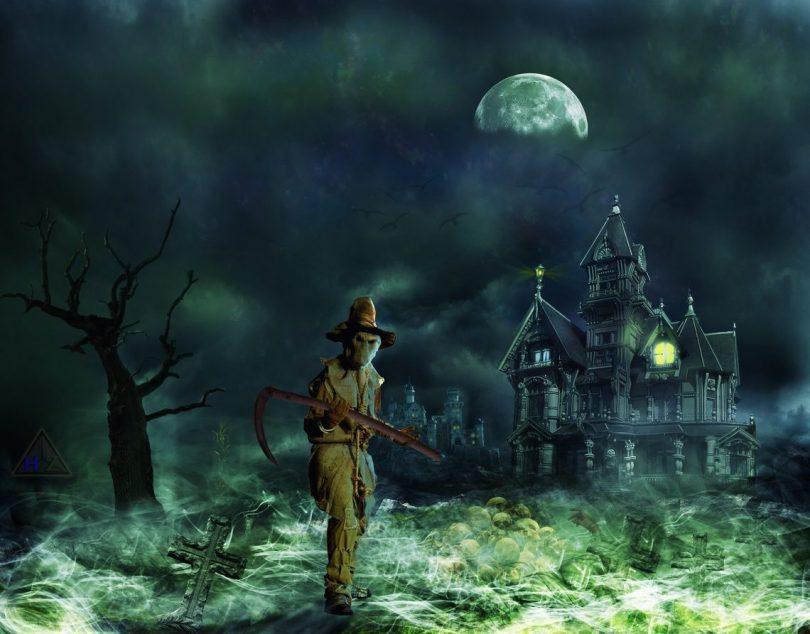 cimetière avec zombie