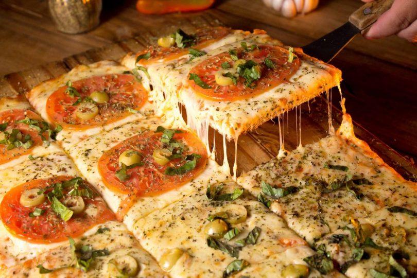 part de pizza carrée