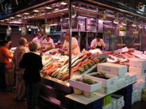 mercado de San Miguel Madrid poissons