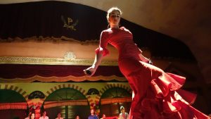 flamenco danseuse en robe rouge