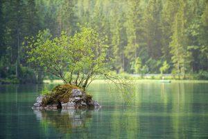 lac près d'un réservoir de madrid