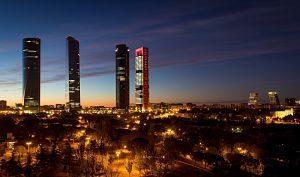 trois tours de bureaux à madrid