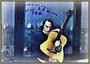 peinture d'un homme avec une guitare