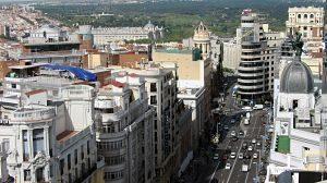 vue aérienne de madrid