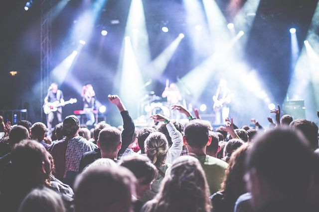 gens dans un concert
